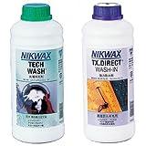 【おすすめセット】NIKWAX LOFTテックウォッシュ1L (洗剤) 1個 + NIKWAX TX ダイレクト (撥水剤 1個