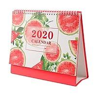 NUOLUX カレンダー 2020年 カレンダー 卓上 テーブルカレンダー おしゃれ (スイカ)