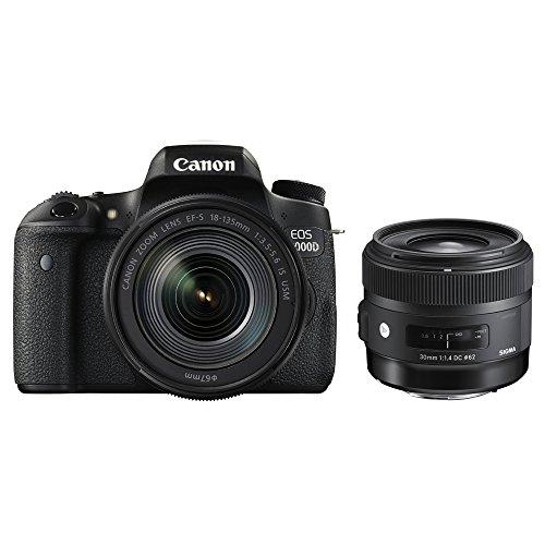 Canon デジタル一眼レフ EOS 8000D レンズキット EF-S18-135mm F3.5-5.6 IS USM + SIGMA 単焦点 Art 30mm F1.4 DC HSM 301545セット