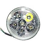 LED ヘッド ライト HIGH LOW 切り替え RGB ポジション 130mm 30w モンキー 系