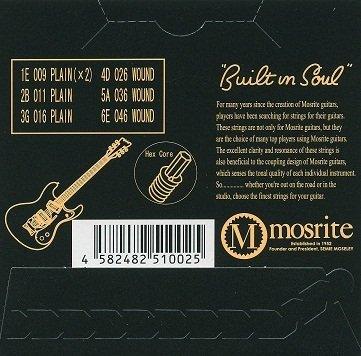 Mosrite 専用ギター弦〈09~46〉
