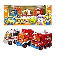 Pororo Rescue Car 3 Set 救急車/エレベーター/消防車3+