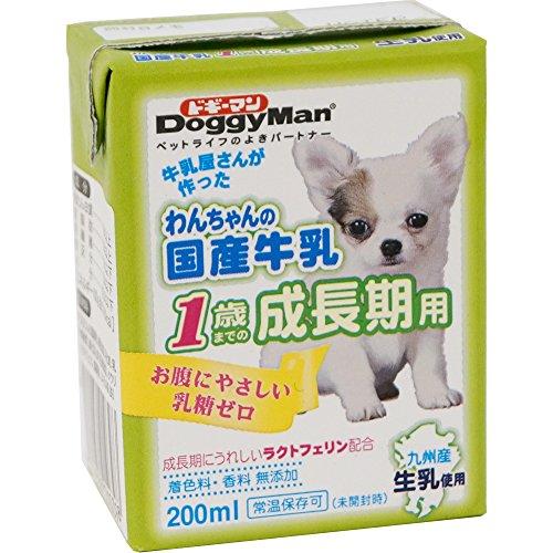 わんちゃんの国産牛乳 1歳までの成長期用 200ml×24個入り