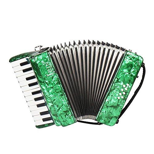 ammoon ピアノアコーディオン アコーディオン 8ベース 22鍵 独...