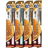 磨きやすい歯ブラシ (少し柔らかめ) 6列ワイドタイプ LT-46×12本セット (ピンク×3、ブルー×3、ホワイト×3、イエロー×3)(先細毛)