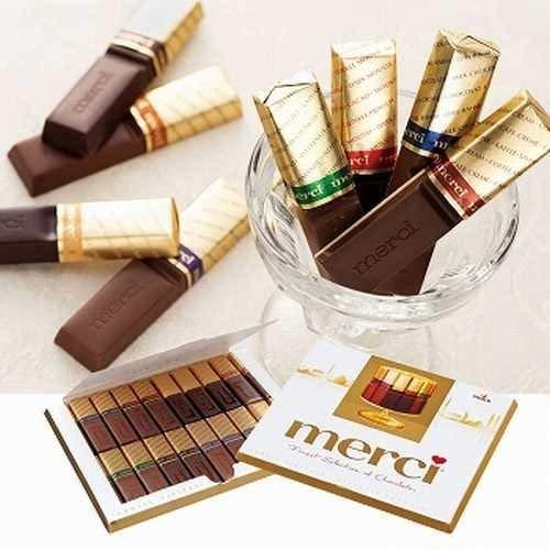 メルシー(merci) ゴールド チョコレート(ストーク) 6箱セット 【ドイツ 海外土産 輸入食品 スイーツ 】