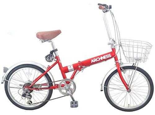 折りたたみ自転車 20インチ ARCHNESS シマノ6段変速ギア