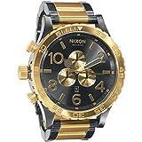 NIXON(ニクソン) 腕時計 51-30 CHRONO A083-595 GUNMETAL/GOLD A083595 [並行輸入品]