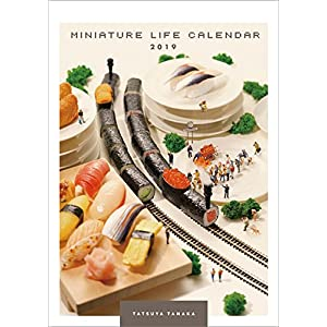 MINIATURE LIFE CALENDAR 2019年 カレンダー 壁掛け A4 CL-425