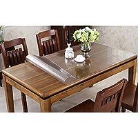 テーブルクロス PVC製 テーブルマット デスクマット テーブル クロス 長方形 防水 撥水 耐久 汚れつきにくい 透明1mm/1.5mm/2mm (厚さ2mm, 75 * 120cm)