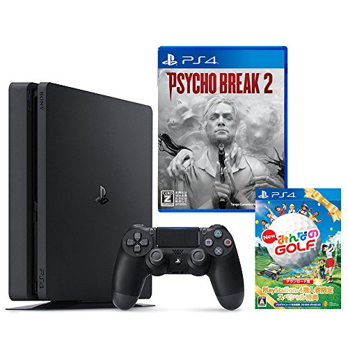 PlayStation 4 ジェット・ブラック 500GB + サイコブレイク2【CEROレーティング「Z」】 + New みんなのGOLF ダウンロード版【Amazon.co.jp限定】オリジナルカスタムテーマ配信