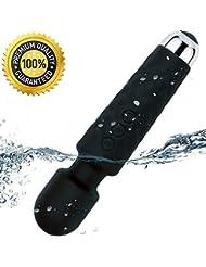 ハンディマッサージャー HIEI コードレス 超静音 防水 モード 携帯便利強力 振動 USB充電式 (ブラック)