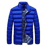 adidas 子供服 muranbaメンズ冬暖かいダウンコートスリム厚手カジュアルアウターパーカージャケット4色 L ブルー Muranba-12