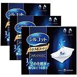 Unicharm Silcot Uruuru Sponge Facial Cotton 40 Sheets 3 Packs (3)