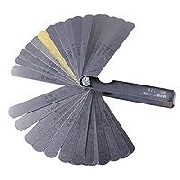 0.04-0.88mm 32フィーラー デュアルレディング インペリアル&メトリック 厚さゲージ 測定ツール 真鍮の刃含む