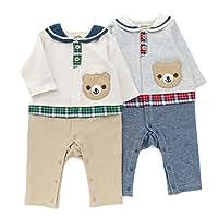 Piccolo(ピッコロ) カバーオール (70~80cm) キムラタンの子供服 (34056-171a) グレー 70