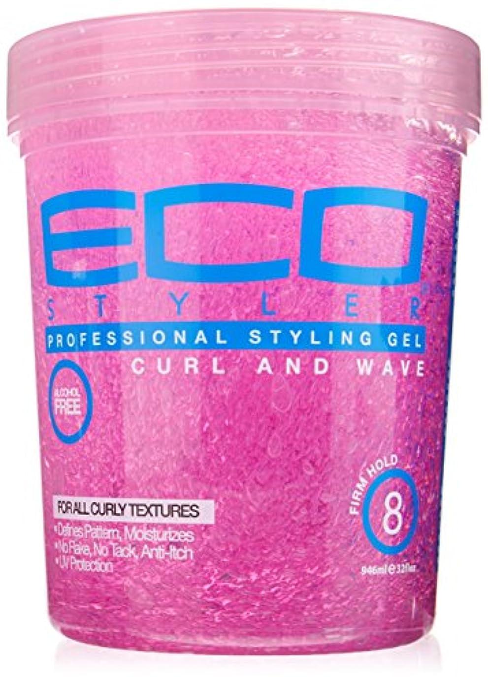 乱雑な鋭く自動的にEco Styler Styling Gel Pink Jar 900 gm (並行輸入品)