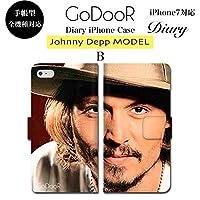 BRAVE CROWN t273 iPhoneX iPhone8 iPhone 7 6s 6 SE 5s 5 ケース Xperia Galaxy 全機種対応 手帳型 ダイアリー スマホケース ブランド グッズ ジョニーデップ ジャックスパロウ パイレーツオブカリビアン カリブの海賊