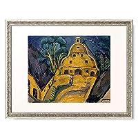 エルンスト・ルートヴィッヒ・キルヒナー Ernst Ludwig Kirchner 「Staberhof Farm on Fehmarn I. 1913」 額装アート作品