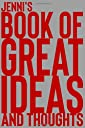 Jenni 039 s Book of Great Ideas and Thoughts: 150 Page Dotted Grid and individually numbered page Notebook with Colour Softcover design. Book format: 6 x 9 in