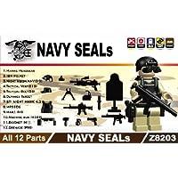LEGOカスタムパーツ アーミー 装備品 武器 Black NAVY SEALS(Ⅱ) Set(フィグ無し) 【並行輸入品】