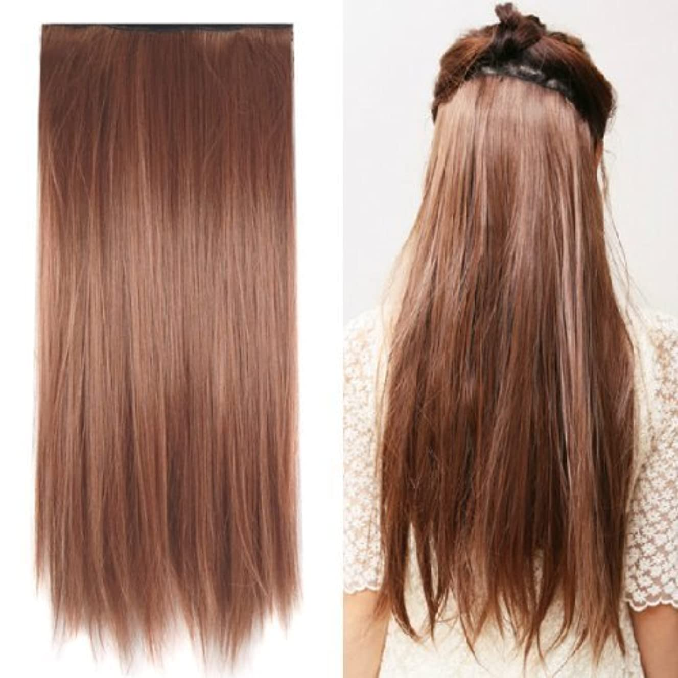 ツーリスト揮発性空港SODIAL(R) Clip in on hair Straight Tail extensions New human heat resistant fibe - Blonde