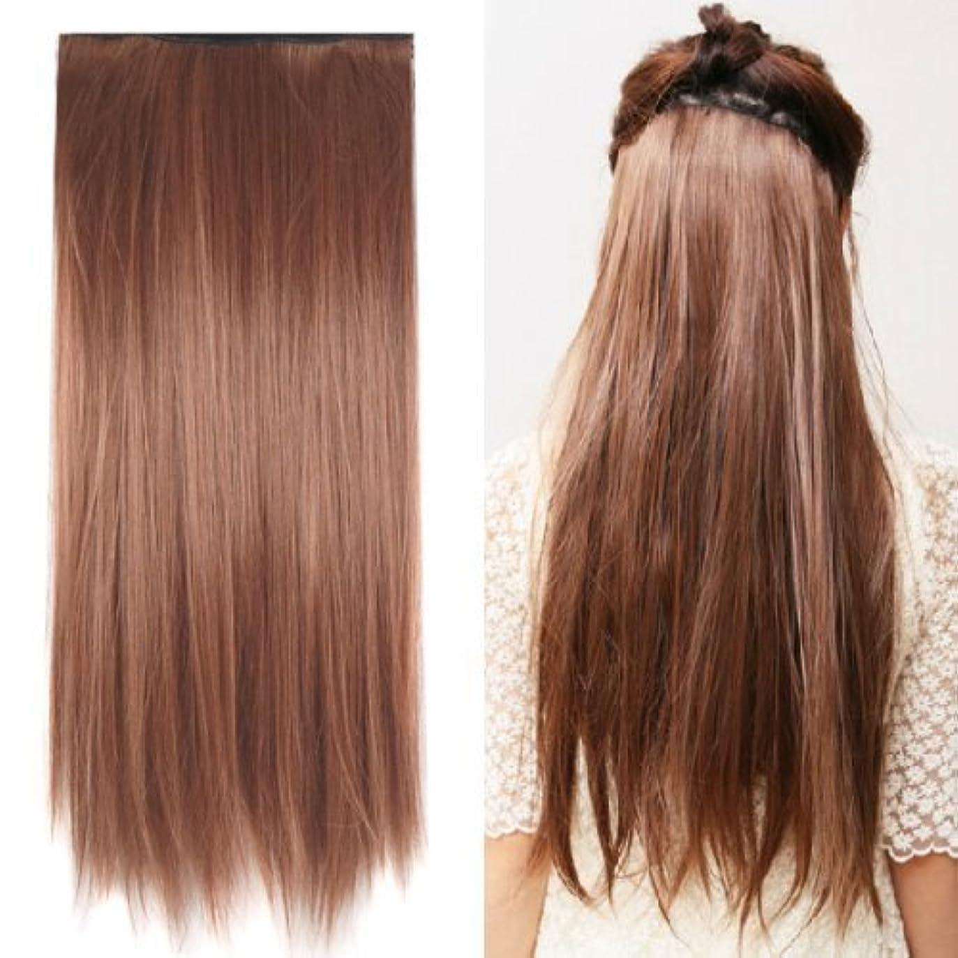 過ち決定的透けるSODIAL(R) Clip in on hair Straight Tail extensions New human heat resistant fibe - Blonde