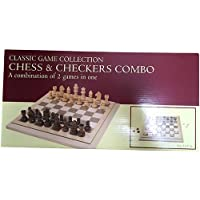 Folding Wood Chess & Checkers Set, 15, One Color by John N. Hansen [並行輸入品]