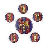 FCBarcelona(FCバルセロナ) オフィシャル 16-17 缶バッジ 6個セット BCN30908
