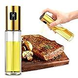 Oil Sprayer Dispenser, 100ML Reusable Food-Grade Glass Avocado Oil Spray Bottle, Spray Bottle for Oil, Olive Oil, Vinega, Cooking Wine