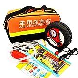 車の緊急キット、自動緊急キット、空気ポンプポンプチューブヒューズ電気技師の手袋と多機能路傍支援車の安全キット
