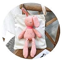 ウサギキャンバスバッグ学生シンプルな野生のショルダーバッグオルチャン大容量ハンドバッグバッグ,ピンク