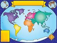 World Map Friendly Chart 17X22