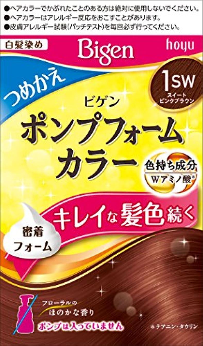 バー剛性公平なビゲン ポンプフォームカラー つめかえ剤 1SW スイートピンクブラウン 1剤50mL+2剤50mL [医薬部外品]