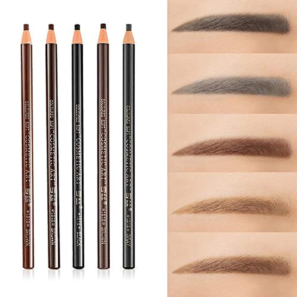 美容アクセサリー 5 PCS 5色防水汗止め眉毛鉛筆色眉毛ペンツール 写真美容アクセサリー