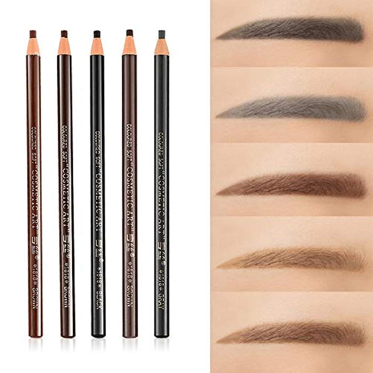関税重なるラショナル美容アクセサリー 5 PCS 5色防水汗止め眉毛鉛筆色眉毛ペンツール 写真美容アクセサリー