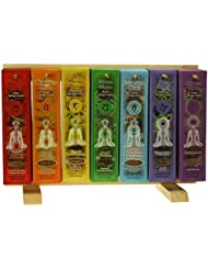 Indian Handicraftsエクスポート表示ラック – 7 Chakras Incense Sticks – 91パック