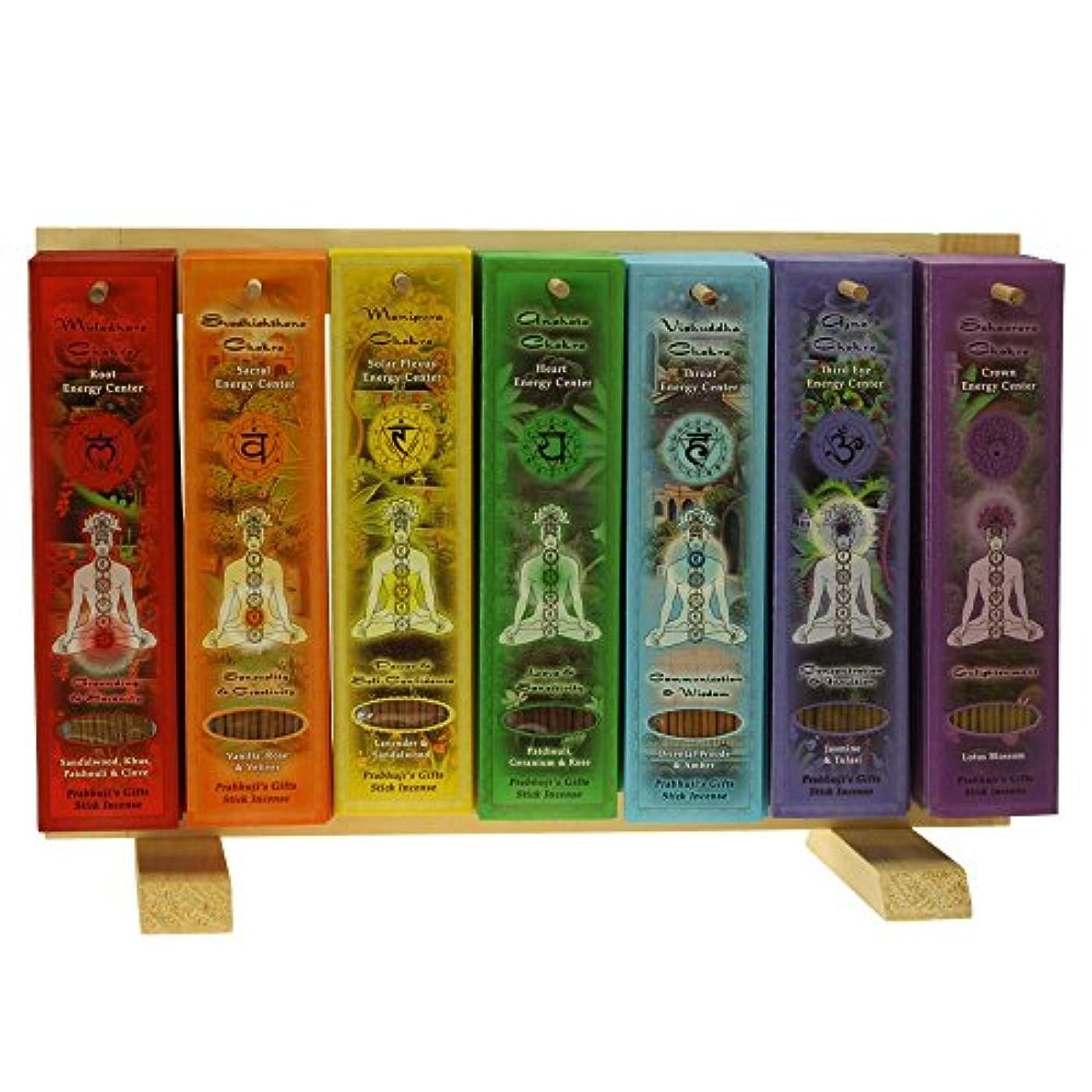 アンペアフォーラム免疫するIndian Handicraftsエクスポート表示ラック – 7 Chakras Incense Sticks – 91パック