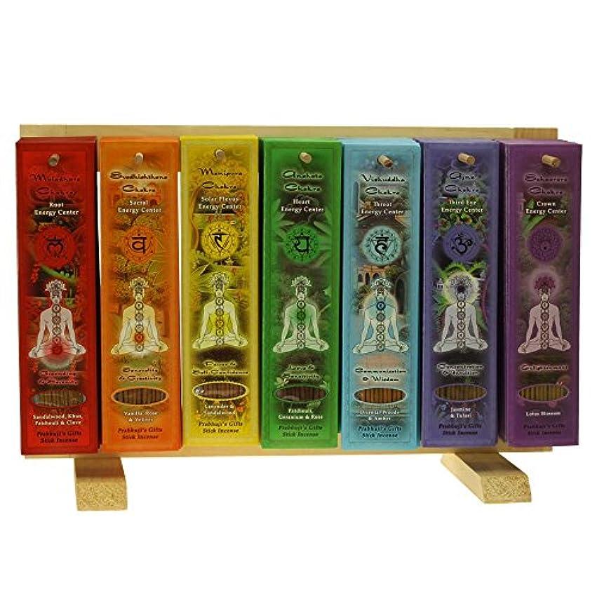 任命フラフープ追放するIndian Handicraftsエクスポート表示ラック – 7 Chakras Incense Sticks – 91パック