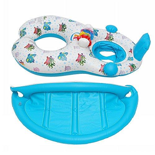 子供用浮き輪親子2人用足入れうきわベビー浮輪大人用水遊び水泳プールスイムリング海用フロートbyKungfuMall
