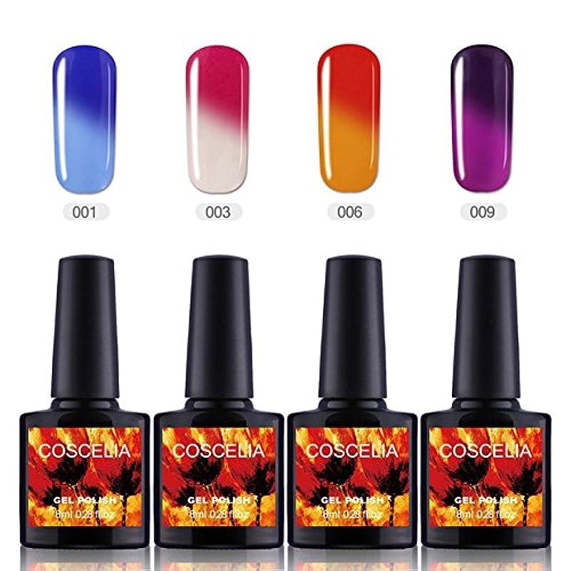 バスタブスーパー報復するTwinkle Store 4色セット ジェルネイル カラー セットカメレオンカラージェル 温度により色が変化 4色入り 8ml (A2XX1-1369)