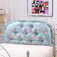 ベッド背もたれクッションベッドクッションベッドサイドピローコットン柔らかい大きな枕の腰のサポート取り外し可能で洗える11色無地4サイズあり (色 : A7, サイズ さいず : 180 * 65CM)