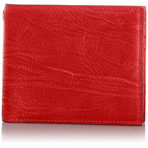 [ゾンネ] SONNE 二つ折り財布(小銭入れ付) SOD003B RED (RED)