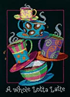 """A Whole Lotta Latte Counted Cross Stitch Kit-11""""X14"""" 14 Count (並行輸入品)"""