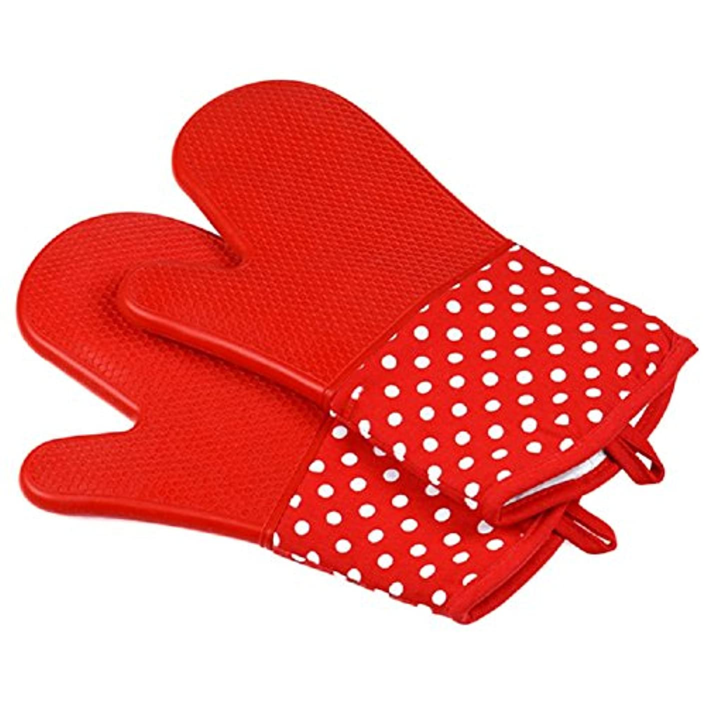 ストレージ刈る割れ目OUYOU 耐熱グローブ シリコンチェック 耐熱温度300℃ キッチングローブ オーブンミトン シリコン手袋 滑り止め クッキング用 フリーサイズ 2個セット