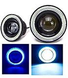 Kstyle LED フォグランプ 汎用 イカリング 付き ライトブルー 30w 高性能 COB 防水 左右 2個 セット