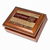 Cottage Garden Confirmation Woodgrain Music Box/Jewelry Box Plays How Great Thou Art [並行輸入品]