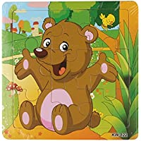 gqmart学習パズル、Cute Cartoon Bear Wooden Jigsaw Toys For Kids教育5.8 & Quot ; x5.8 & Quot ;