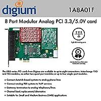 Digium 1A8A01F 8ポートモジュラーアナログPCI 3.3/5.0Vカード インターフェースなし HWエコ缶