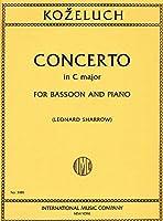 KOZELUCH J.A. - Concierto en Do Mayor Op.110 (Inc.Cadencias) para Fagot y Piano (Turkovic/Sharrow)